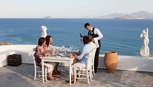 Restaurant mit Strandblick